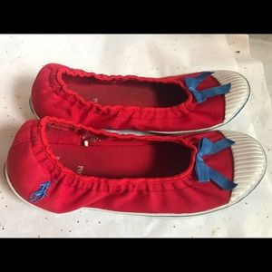 Polo Ralph Lauren slip on red women's shoes